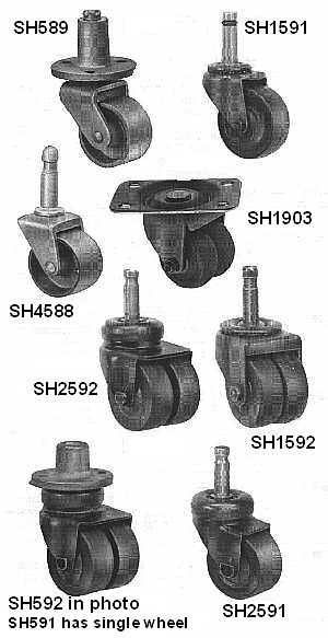PIANO CASTERS For Uprights Grands And Spinets Trollies Also - Casters for hardwood floors