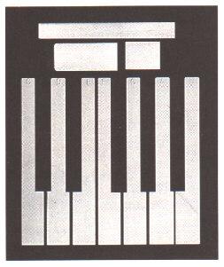 Piano Sharps High Gloss Black Set of 36 keys with Ebony color finish.